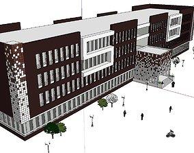 Office-Teaching Building-Canteen 26 3D model