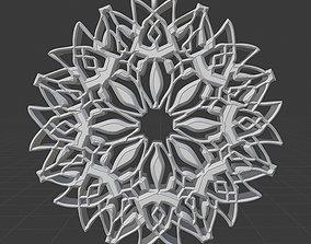 3D printable model Crescent Pendant Pattern Moon 1