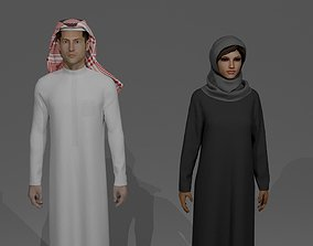 3D SAUDI ARABIA TRADITIONAL CLOTHING STYLE