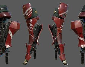 Robot Leg For Art 3D model rigged