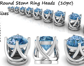 3D printable model Ring Heads Type 4 - 10pc