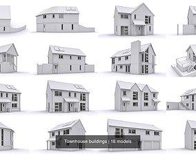 Townhouse buildings 3D