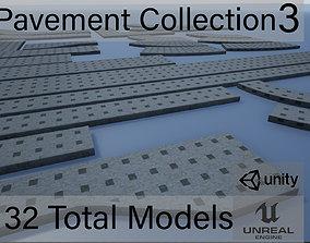 Lowpoly Modular PBR Pavements 3 3D asset