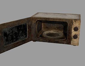 3D asset Abandoned Microwave Oven