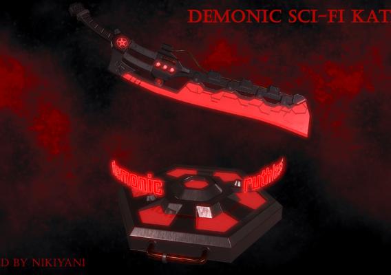 Demonic sci-fi katana