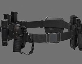 3D asset Police Belt Gear Set