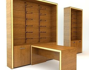 Desk and Cabinets 3D model