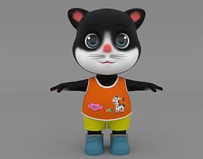 3D model Cat cartoon rigg