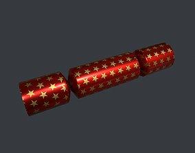 Christmas Cracker 3D asset