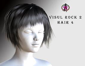 Visual Rock 2 - Hair04 3D asset