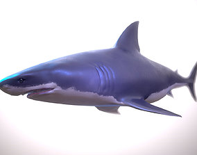 3D model Great white shark