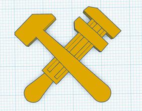 Soviet Railroad Cap Badge 3D print model