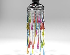 3D Arabic colorful lantern