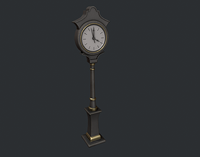 3D model Black and Gold Street Clock