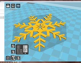 Snowflake 3D print model christma-wreath