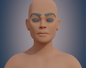 Woman lowpoly 3D asset realtime