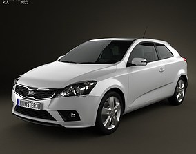 Kia Pro Ceed 2011 with HQ Interior 3D