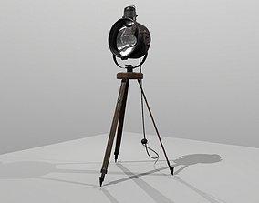 3D model Antique Industrial Spotlight