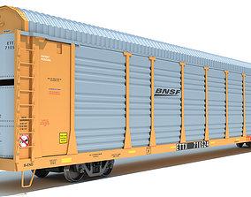 3D model BNSF Auto Carrier Railroad Car