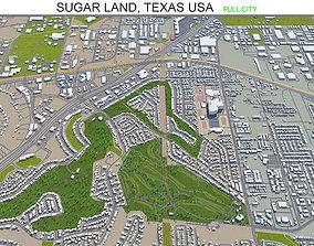 Sugar Land Texas USA 25km 3D asset game-ready