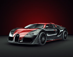 vehicle Bugatti Veyron 3D