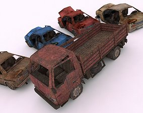 3D model Wrecked Cars