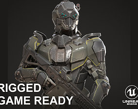 3D asset SciFi Soldier Character