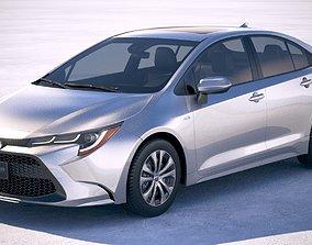 3D Toyota Corolla sedan hybrid US 2020