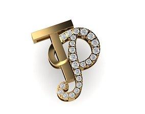 3D print model TP letter diamond pendant mat day chu