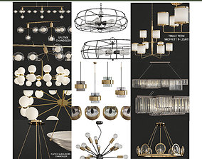 game-ready Chandeliers 3d models Collection 10