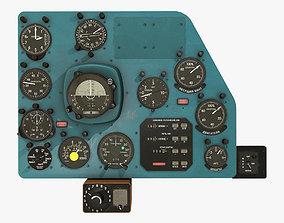 3D asset Mi-8MT Mi-17MT Right Panels Board Russian