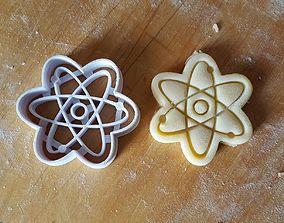 Atom Symbol cookie cutter 3D print model