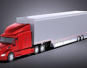 Peterbilt 579 Semi Truck Trailer 2017 VRAY 3D