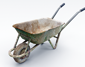 3D model Dirty Wheelbarrow
