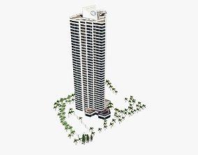 Inlet Apartments 3D model