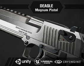 3D asset Deagle magnum pistol