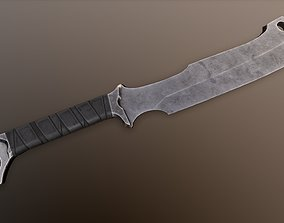 Post-Apocalyptic Machete 3D model VR / AR ready