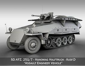 SDKFZ 251 7 Ausf D - Assault Engineer Vehicle 3D model