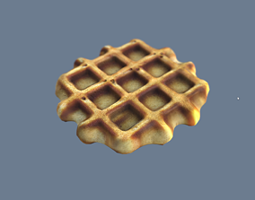 game-ready Waffle 3D Model