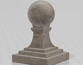 3D printable model Baluster ball finial