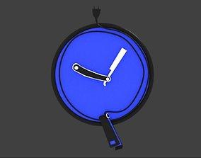 3D Corded Clock Barber