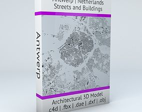3D Antwerp Road Network and Streets