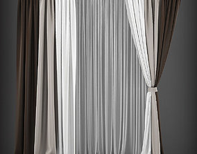 Curtain 3D model 141 game-ready