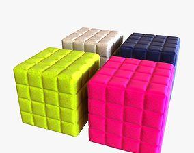 3D model Buzzy cube design pouf