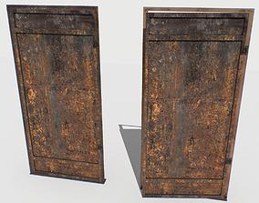 3D model Rusty Metal Door 1