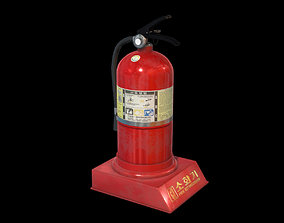 3D asset animated VR / AR ready Fire Extinguisher