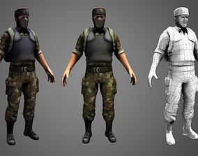 Soldier 3D asset
