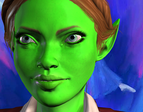 animated Eve Woman 3d model