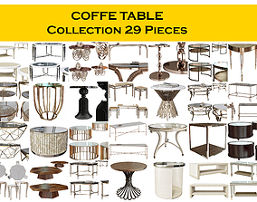 3D COFFE TABLE Collection 29 Pieces furniture