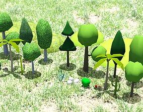 LowPoly Plants 3D model